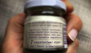 composteerbeer etiket natuurlijke deo